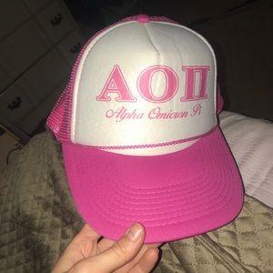 Alpha Omicron Pi Hat Pink AOII